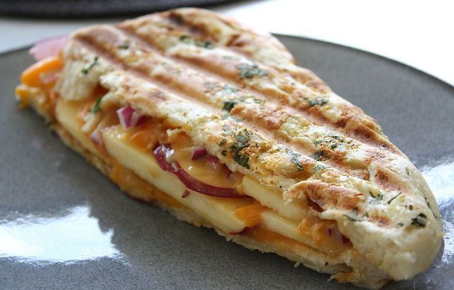 Apple, Cheddar & Red Onion Panini