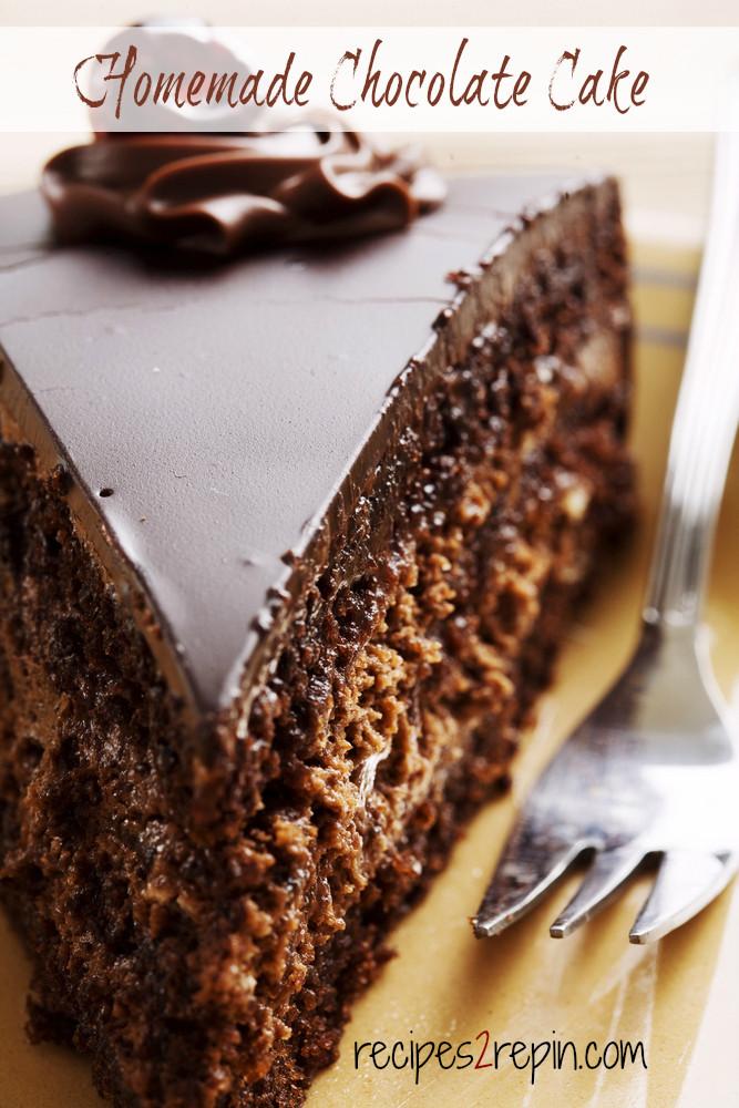Simple Chocolate Cake Images : Easy Homemade Chocolate Cake Recipes 2 Repin